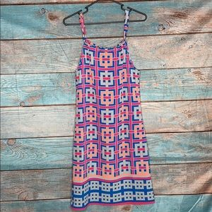 Crown and Ivy Geometric Dress Pink Blue XSmall